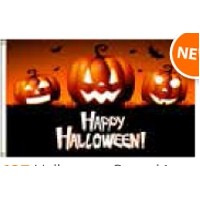 Boutique Flag - Halloween Pumpkins (2'x3')