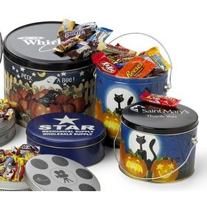 3 1/2 Gallon Designer Pail w/ Individually Wrapped Assorted Candy Bars