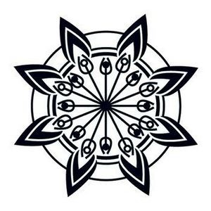 Glow in the Dark Tribal Flower Temporary Tattoo