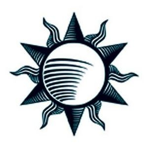 Glow in the Dark Tribal Sun Temporary Tattoo