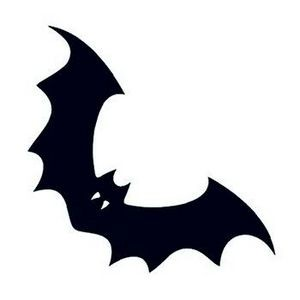 Flying Bat Temporary Tattoo