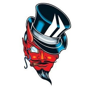 Small Devil with Top Hat Temporary Tattoo