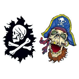 Glow in the Dark Pirate Temporary Tattoos