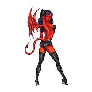 Devil Girl Temporary Tattoo
