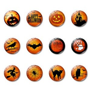 Halloween Crystal Glass Refrigerator Magnets