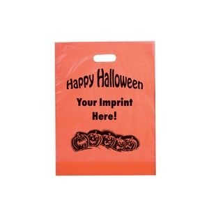 "Halloween Stock Design Orange Frosted Die Cut • Pumpkin Row - Customized (12""x15""x3"") - Flexo Ink"