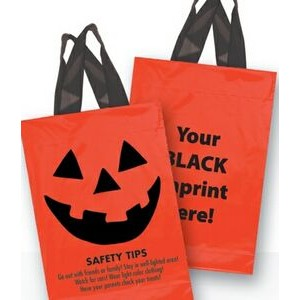 Halloween Stock Design Orange Soft Loop Shopper • Pumpkin Face & Safety Tips