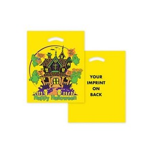 "Halloween Stock Design Yellow Die Cut Bag • Haunted House (12""x15"") - Flexo Ink"