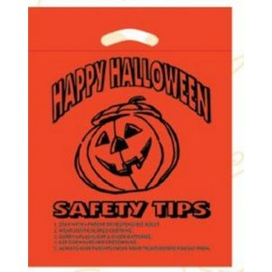 "Halloween Stock Design Orange Die Cut Bag • Happy Halloween (12""x15""x3"") - Flexo Ink"