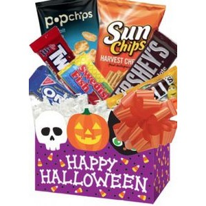 Ghostly Halloween Candy Gift Basket