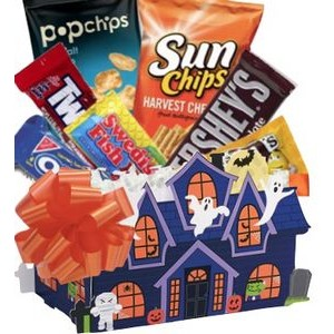 Haunted House Halloween Candy Basket
