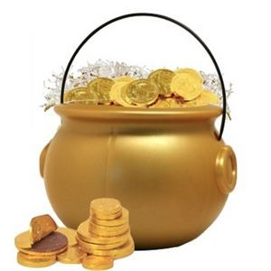 Pot of Gold with Chocolate Gold Coins