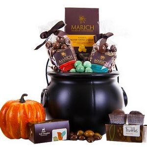 Gourmet Halloween Chocolate filled Cauldron