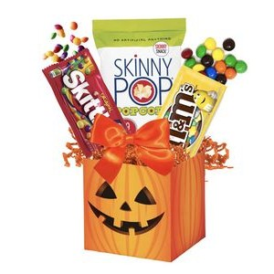 Halloween Cauldron with Candy and Chocolate Treats