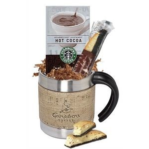 Starbucks Cocoa & Cookie in Stainless & Cork Simulated Wrap Mug
