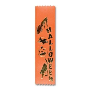 "2""x8"" Stock Recognition Happy Halloween Lapel Ribbon"
