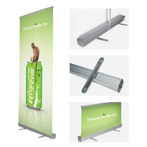 "Standard Retractable (Roll up) Banner Stand (33""x 80"")"