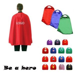 Satin Velcro Superhero Cape