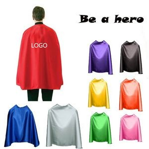 Adult Super Hero Cape With Velcro Closure