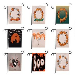 "Double-Sided Halloween Garden Flag (12.5""x18"")"