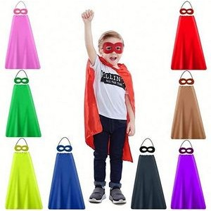 Youth Superhero Stain Cape and Mask Set