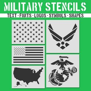 Military and Patriotic Stencils