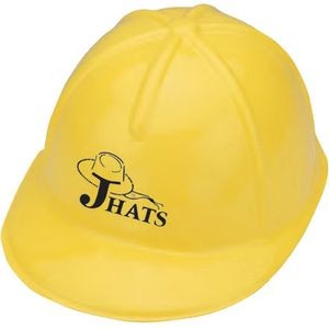 Plastic Construction Hat w/ 1 Color Label
