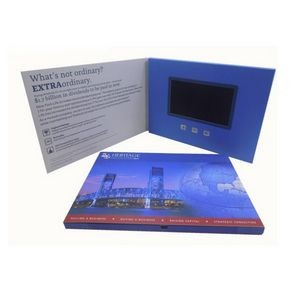 Custom 4.3 Inches Screen A5 Size Full Color Imprint Video Book Or Video Brochure