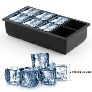 Ice Cube Tray Large Size Silicone Flexible Eight Cubes