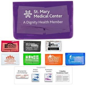 7 Piece Economy First Aid Kits in Vinyl Pouch