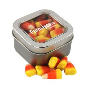 Window Tin w/Candy Corn