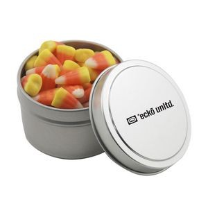 Round Tin w/Candy Corn