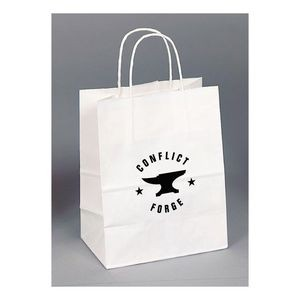 White Kraft Paper Shopping Bag (8