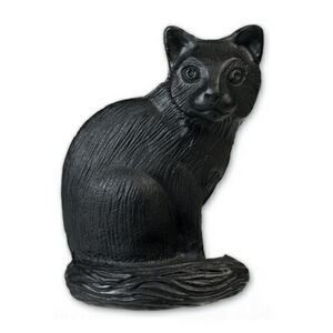 Black Cat Stock Shape Pencil Top Eraser