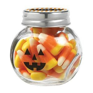 Cryptic Canister Jar w/ Candy Corn