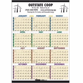 Triumph® Time Management Laminated Span-A-Year Calendar w/Marker
