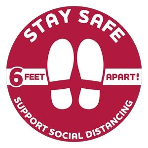 Stay Safe Floor Decals (12