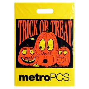Reinforced Die Cut Handle Have a Safe Halloween Bag