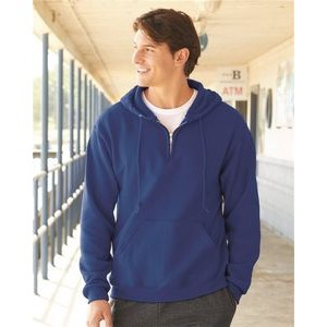 Jerzees� NuBlend� 1/4 Zip Hooded Pullover Sweatshirt