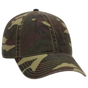 OTTO 6 Panel Low Profile Camouflage Garment Washed Cotton Twill Baseball Cap
