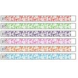 "3/4"" Web Pattern Tyvek Wristband with Text and Logo Imprint"