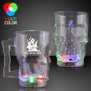 Custom 14 Oz. Light Up Skull Halloween Party Mug
