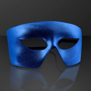 Blue Masks, Mardi Gras Costume Accessory (NON-Light Up)
