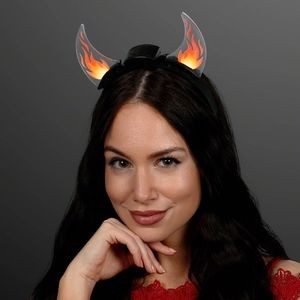 Dancing Flames Light Up Devil Horn Headband