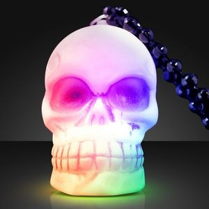 LED Soft Skeleton Skull Bead Necklace