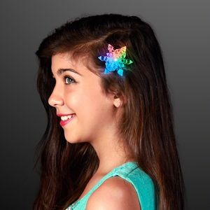 LED Color Change Snowflake Light Up Hair Clips