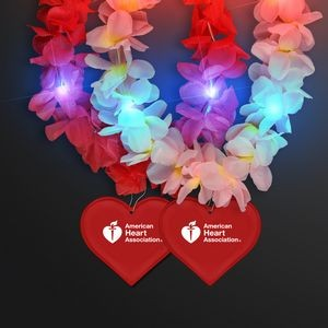 Light Up Hawaiian Leis with Custom Heart Medallion