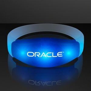 Imprinted Blue LED Steady Illumination Stretch Bracelet