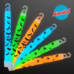 Glow Bats & Spiders Halloween Sticks