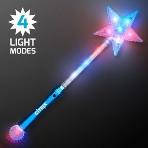 Custom LED Blue Super Star Wands
